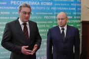 Губернатор НАО Игорь Фёдоров (справа) и глава РК Вячеслав Гайзер ответили на вопросы журналистов