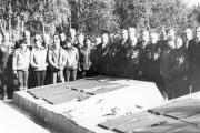 Встреча в Лоухи, посвященная 40-летию освобождения Заполярья, 1984 год. Василий Личков – первый справа