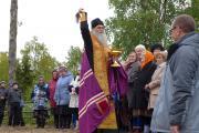 На праздник по случаю освящения часовни собралось все село