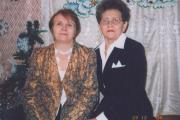 Галина Анфимова (справа) с коллегой, известным  музыкантом Зоей Михайловой. Декабрь 2004 года