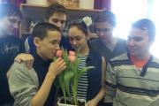 К 23 февраля феи подготовили цветы