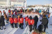 Акция «Оранжевая нить» символизирует победу над пандемией / Фото Алексея Орлова