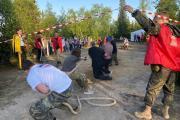 Перетягивание каната – одно из самых зрелищных состязаний / Фото автора
