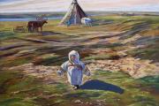 Маленький тундровичок / Картина Надежды Выучейской