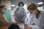 Пункт вакцинации в ДК «Арктика» / Фото Игоря Ибраева