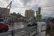 Посёлок Витязево в Краснодарском крае тоже попал под удар стихии / Фото предоставлено Евгенией Гербовой