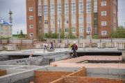 Строительство яслей-сада продолжается / Фото Игоря Ибраева