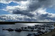 Вид на Кармановскую курью Печоры и небо над ней / Фото Ольги Викторовой