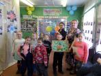 Праздник для дошколят «С днём рождения, библиотека!» Малыши своими руками изготовили подарок – картину из солёного теста / Фото из архива библиотеки