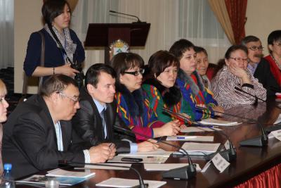 Рабочий момент съезда ассоциации ненецкого народа «Ясавэй»