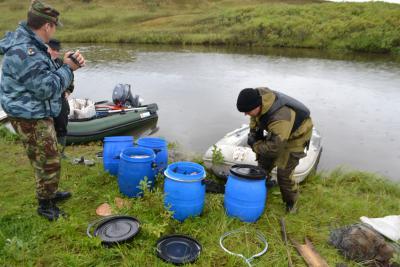 Местом нелегального лова белой рыбы стали в этот раз Вашуткины озера