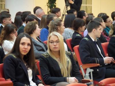 Студентки Горного университета на вебинаре