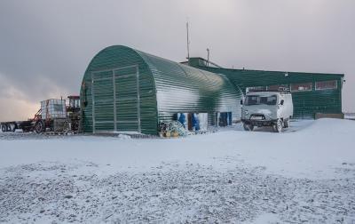 Опорный пункт нацпарка Русская Арктика на мысе Желания