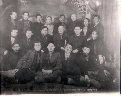 Делегаты Третьего регионального съезда Советов. Выучейский и Лымин рядом.
