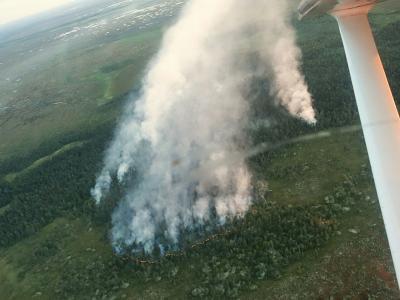 С высоты птичьего полета все очаги пожара видны как на ладони