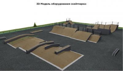 3D-модель оборудования скейт-парка