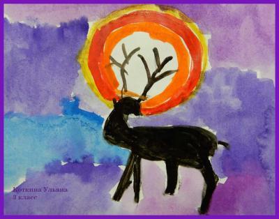 Рисунок Коткиной Ульяны, 3 класс