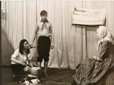 Студийцы 70-х. Слева направо: Ольга Просвирнина, Сергей Никулин, Наталья Чупрова