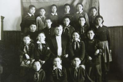 Первые ученики новой ненецкой школы в Нарьян-Маре / Фото из фондов музея школы-интерната
