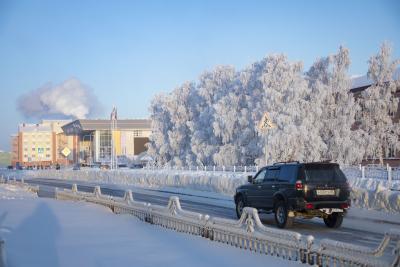 В морозы окружная столица особенно хороша / Фото Алексея Орлова