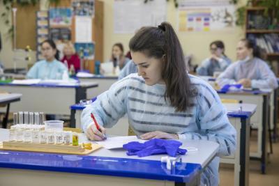 В олимпиаде по химии приняли участие 25 школьников / Фото Алексея Орлова