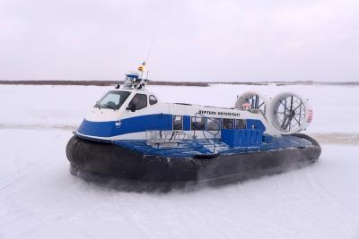 СВП «Полярник» обеспечивает транспортную безопасность НАО в межсезонье / Фото автора