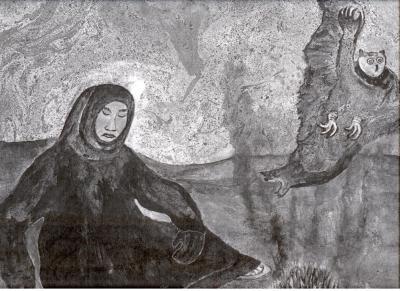 Прокопий Явтысый – «Покаяние добру», 1990-е годы / Картина Из Частной коллекции семьи Явтысых