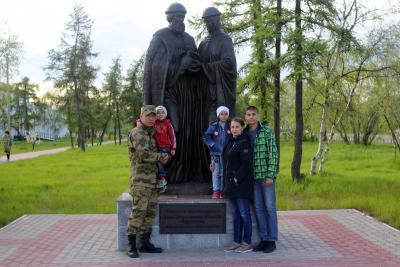 Семейное фото в парке на память / Фото автора