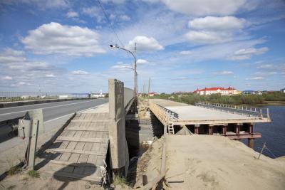 Строительство моста-дублёра приостановлено / Фото Алексея Орлова