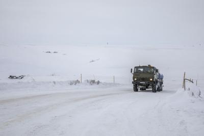 Общая протяжённость зимника в этом году – 54,8 км / Фото Алексея Орлова