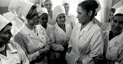 Эвелина Марус среди коллег / Фото из семейного архива Э. М. Марус