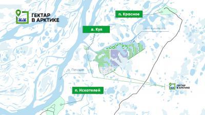 Участки в рамках «Арктического гектара» будут предоставляться в районе деревни Куи и прилегающих к ней межселенных территориях / Фото из открытых источников