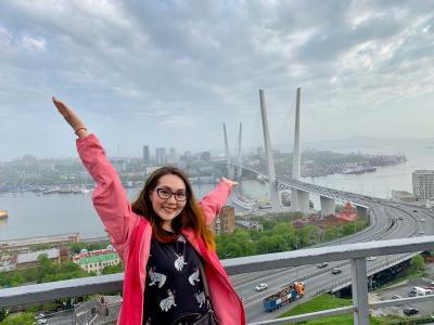 Героиня нашего материала долго добиралась до Владивостока и влюбилась в этот город / Фото из архива Надежды Латышевой